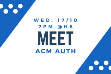 Meet ACM Banner